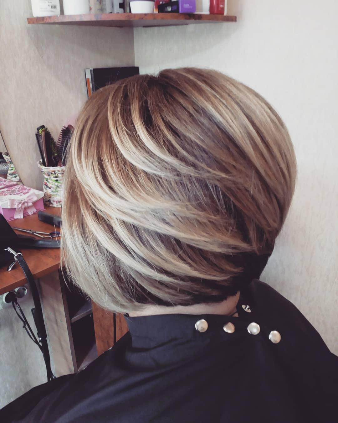 стрижки-на-короткие-боб-каре-2019-обем-волос