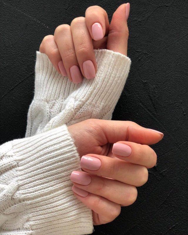 гель-на-короткие-ногти-2019-маникюр на короткие ногти фото дизайн 2019 шеллак зима