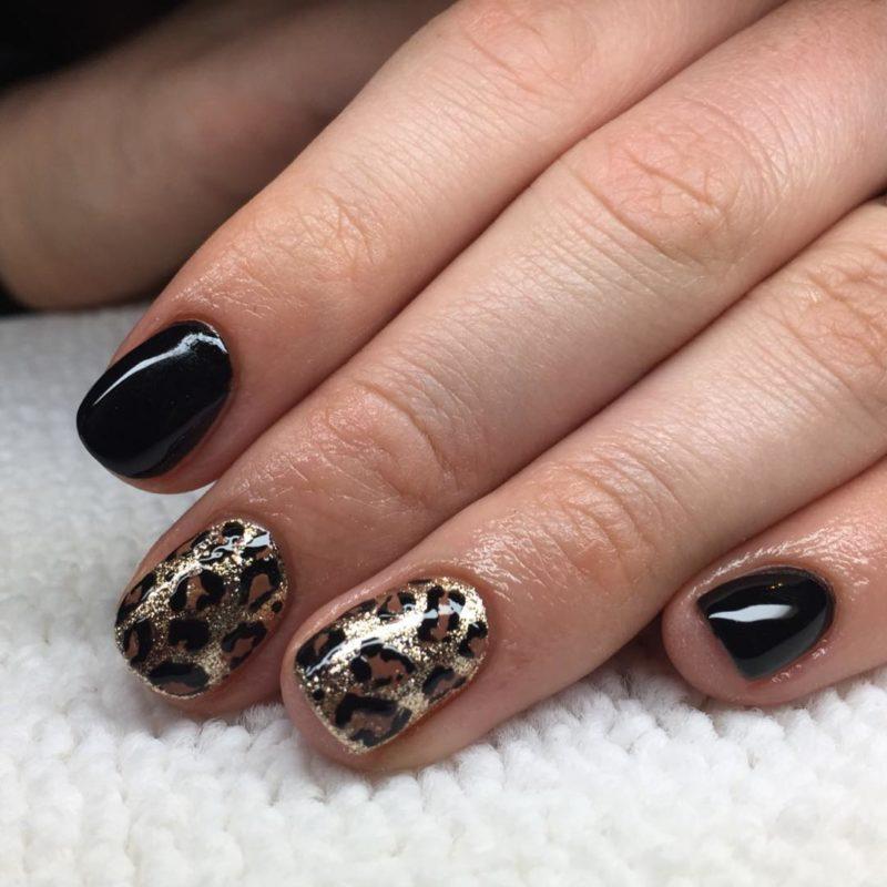 гель-на-короткие-ногти-2019-гепард-лак